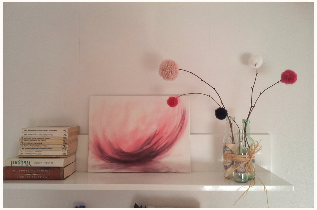 Vintage-Deko: Romantische Bommelblumen