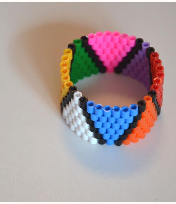 Nachgemacht: Bügelperlen-Armband