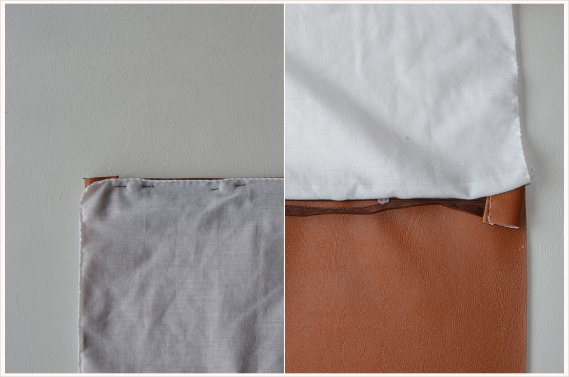 Mein erstes Projekt mit meiner neuen Nähmaschine: Fold-over-clutch
