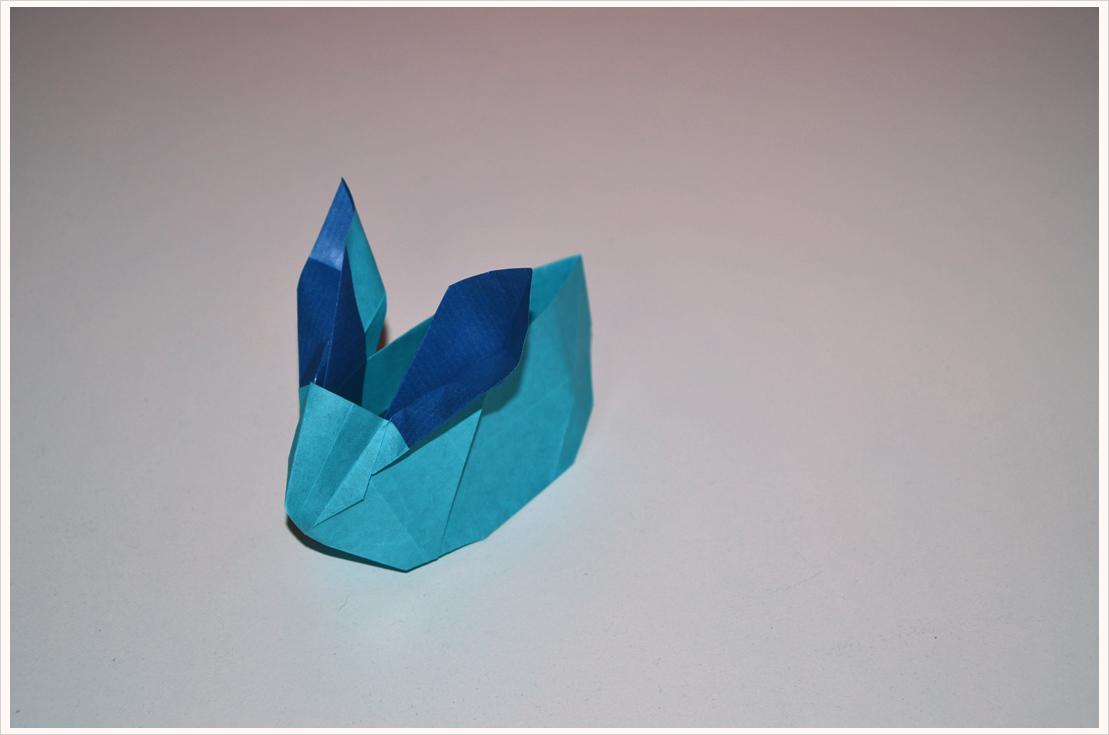 Oster-Geschenke verpacken Teil 5: Origami-Hasenkörbchen