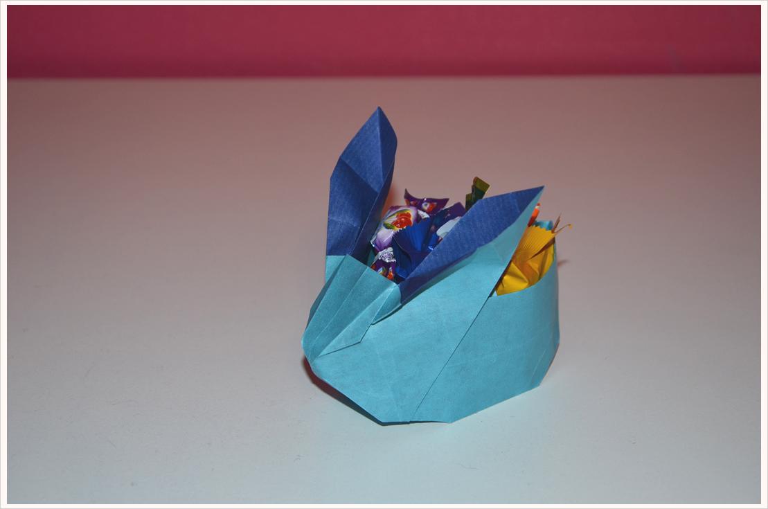 Oster-Geschenke verpacken Teil 5: Hasenkörbchen