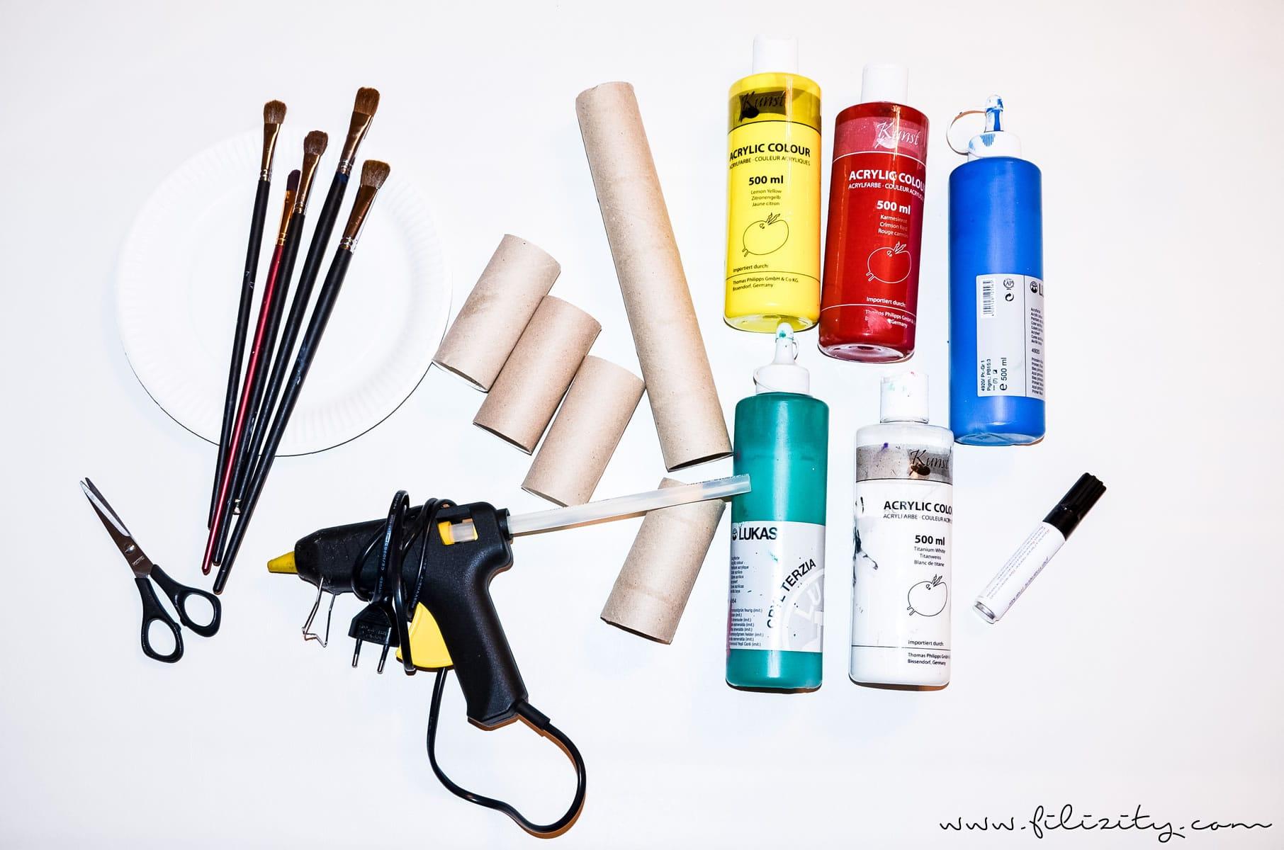Basteln mit Kindern: DIY Osterhasen aus Papierrolle | Filizity.com | DIY-Blog aus dem Rheinland #ostern #osterhase