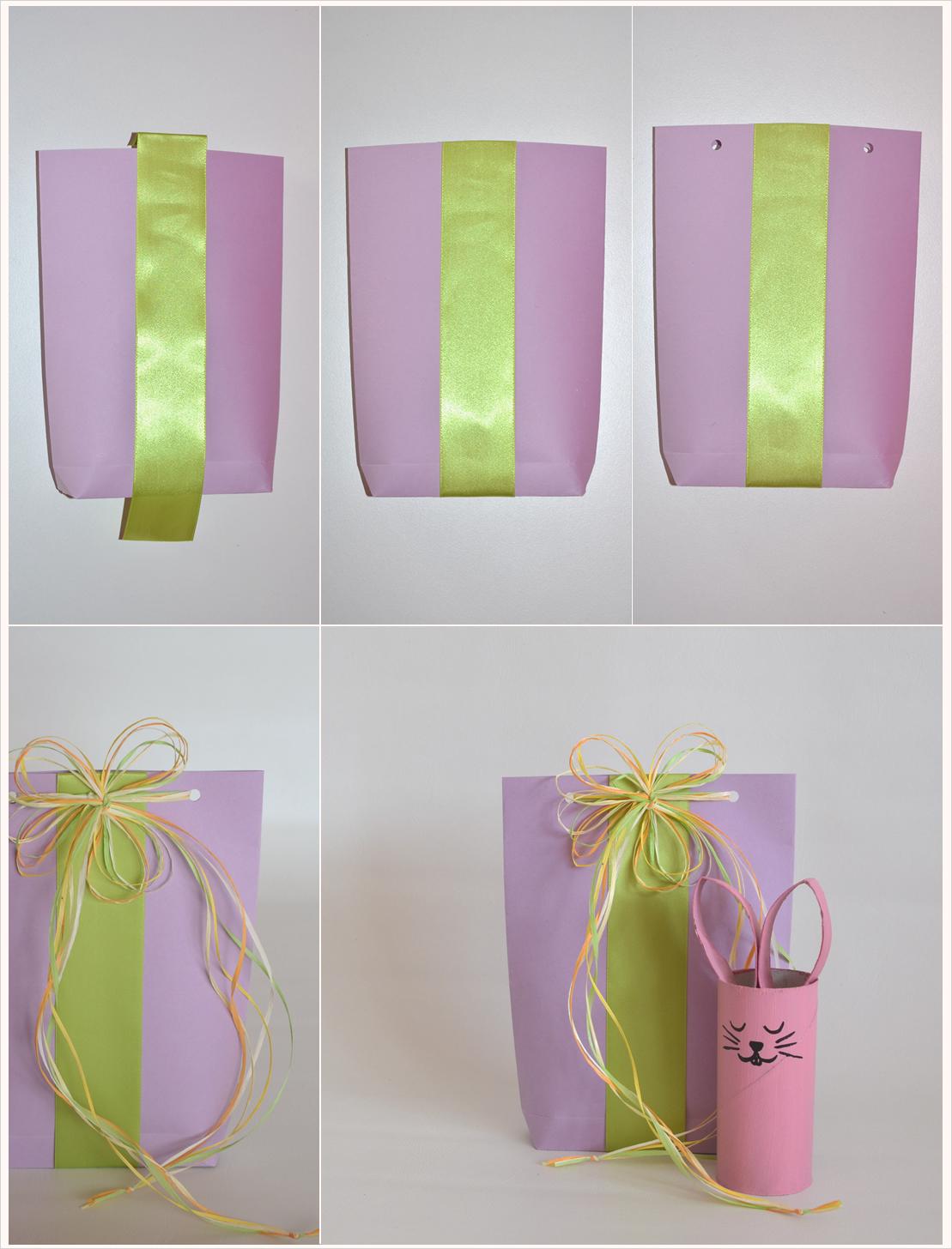 Oster-Geschenke verpacken Teil 4: Papiertüte mal anders