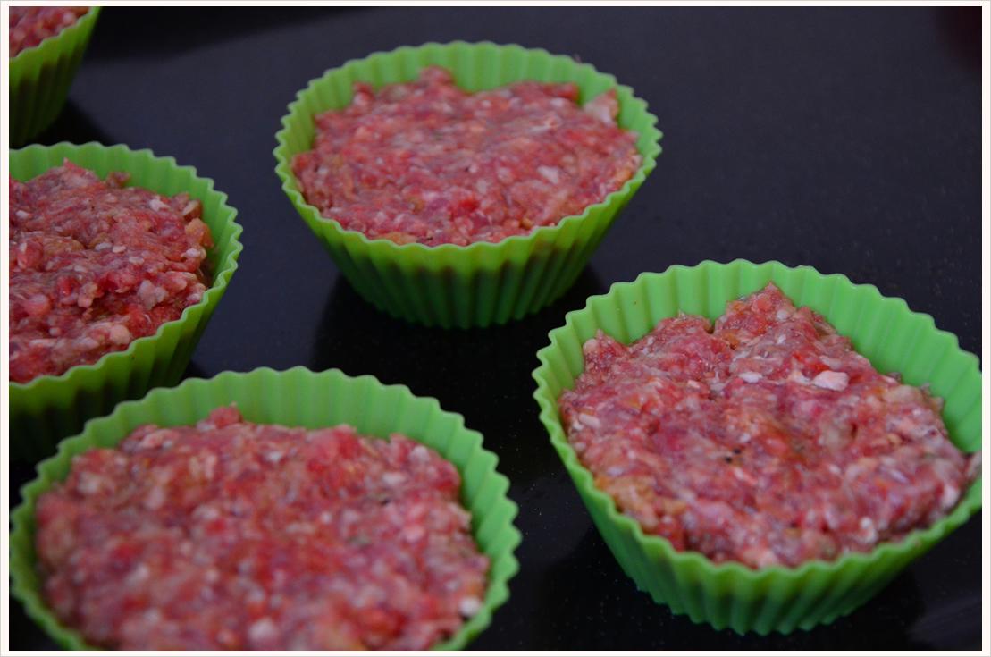 Frikadellen-Kartoffelpürree-Cupcakes