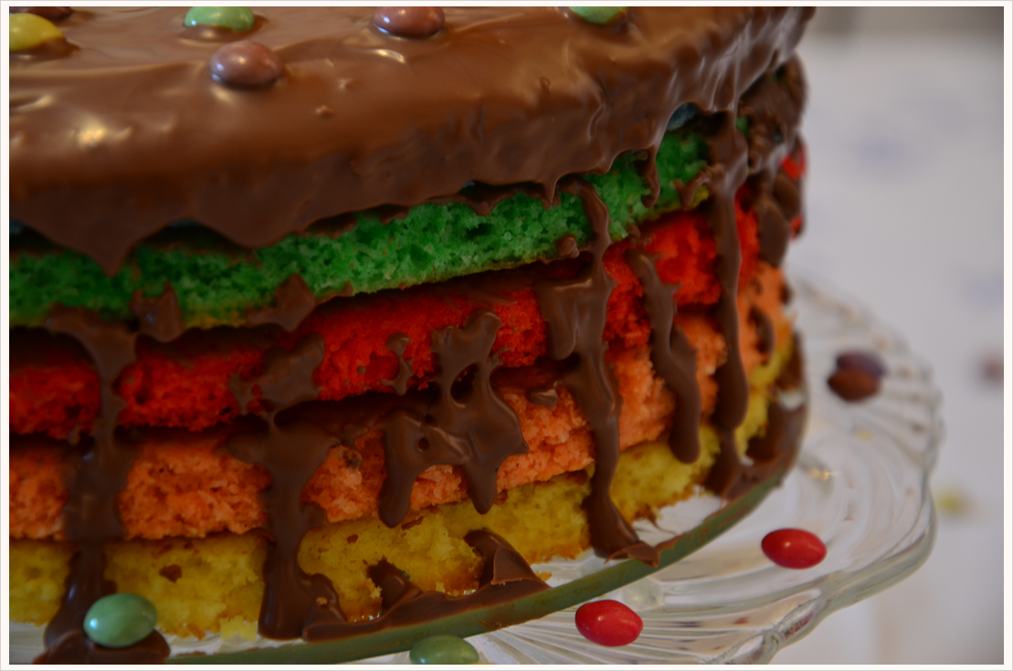 Regenbogen Kokos Kuchen Mit Schokoglasur Filizity Com