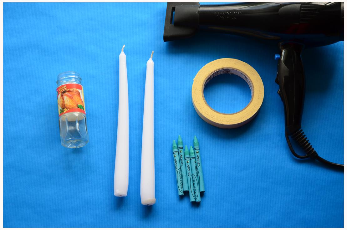 DIY-Dienstag: Kerzen färben mit Wachsmalstiften