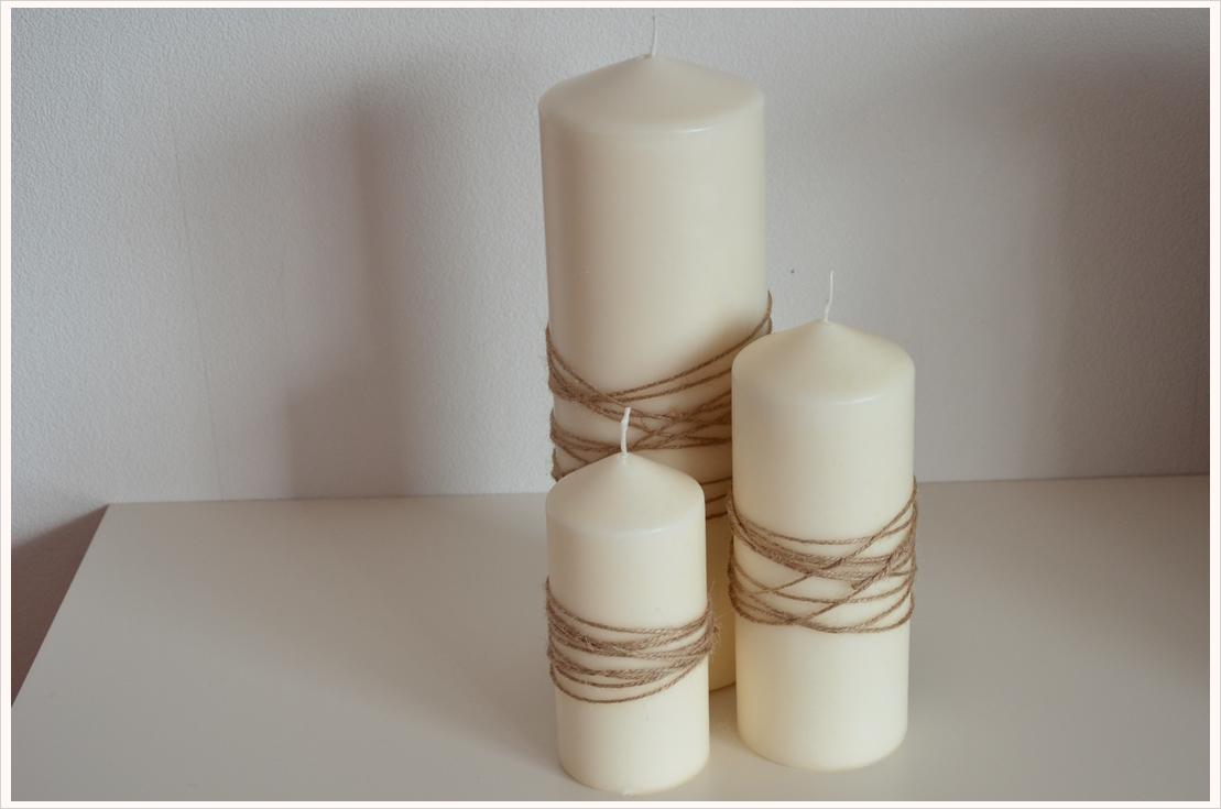 DIY- Dienstag: Kerzen mit Juteschnur veredeln