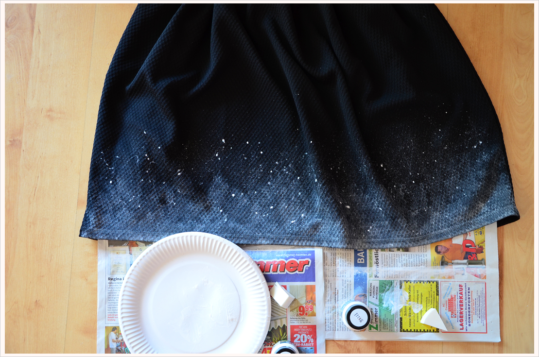 Refashioned black dress