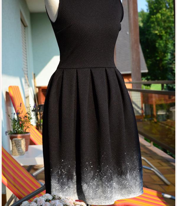Refashioned black dress