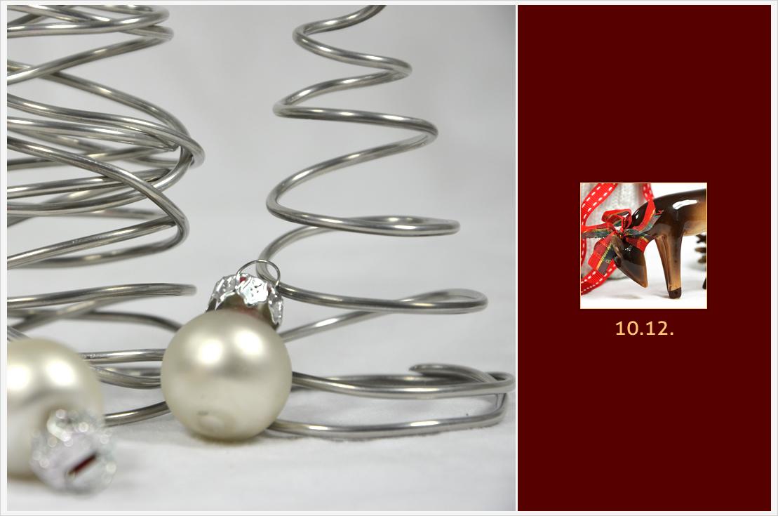 Der a-little-fashion-Adventskalender: 10 Dezember - Tannenbäume aus Draht