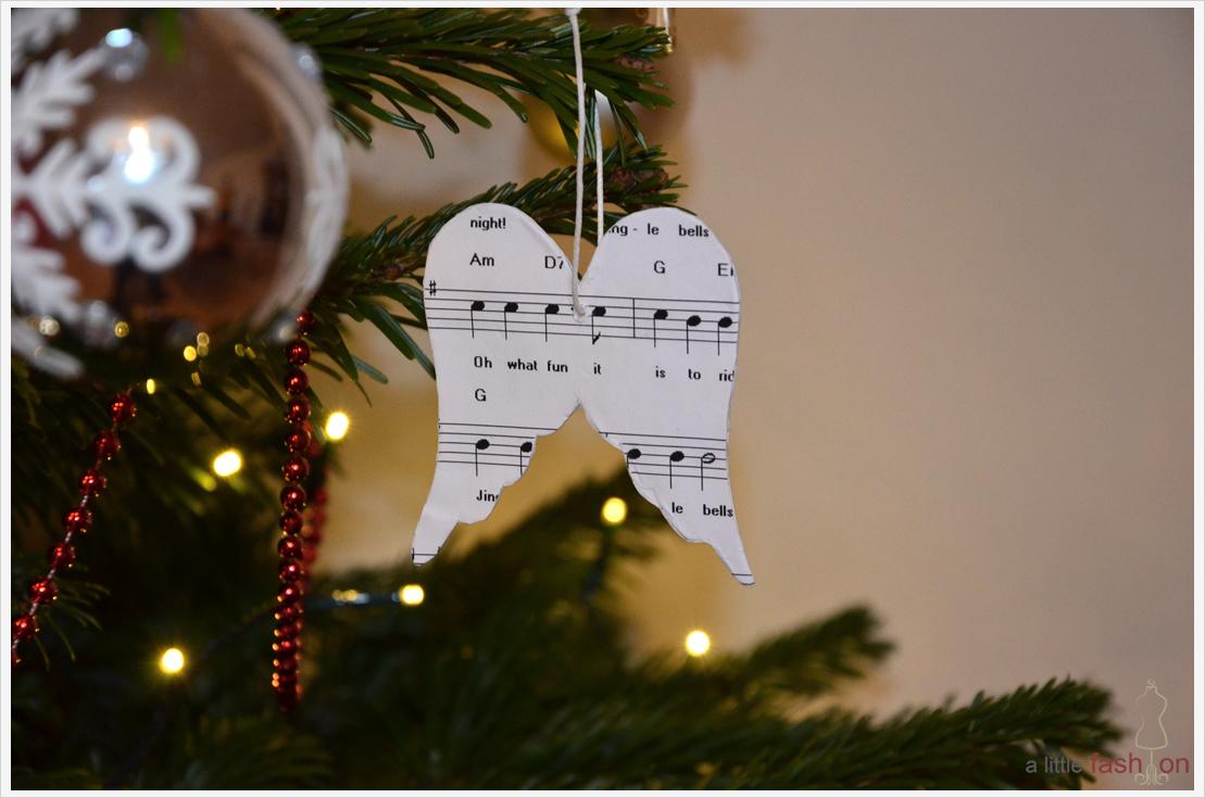 Der a-little-fashion-Adventskalender: 21. Dezember  - Baumanhänger aus Pappmaché