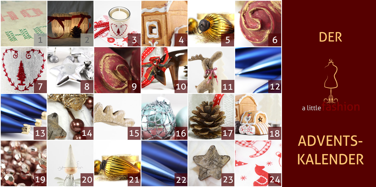 Der a-little-fashion-Adventskalender: 02. Dezember  - Kerzengläser mit Strick
