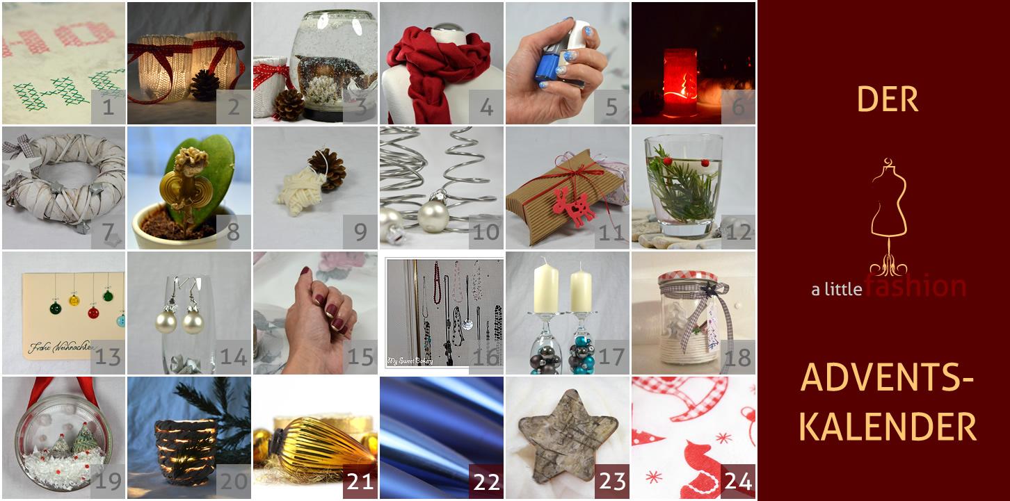Der a-little-fashion-Adventskalender: 20. Dezember  - ländlich romantische Kerzengläser