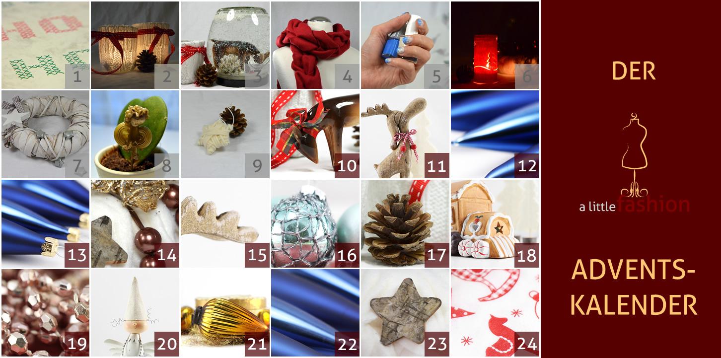 Der a-little-fashion-Adventskalender: 09. Dezember  - Baumschmuck mit Wolle