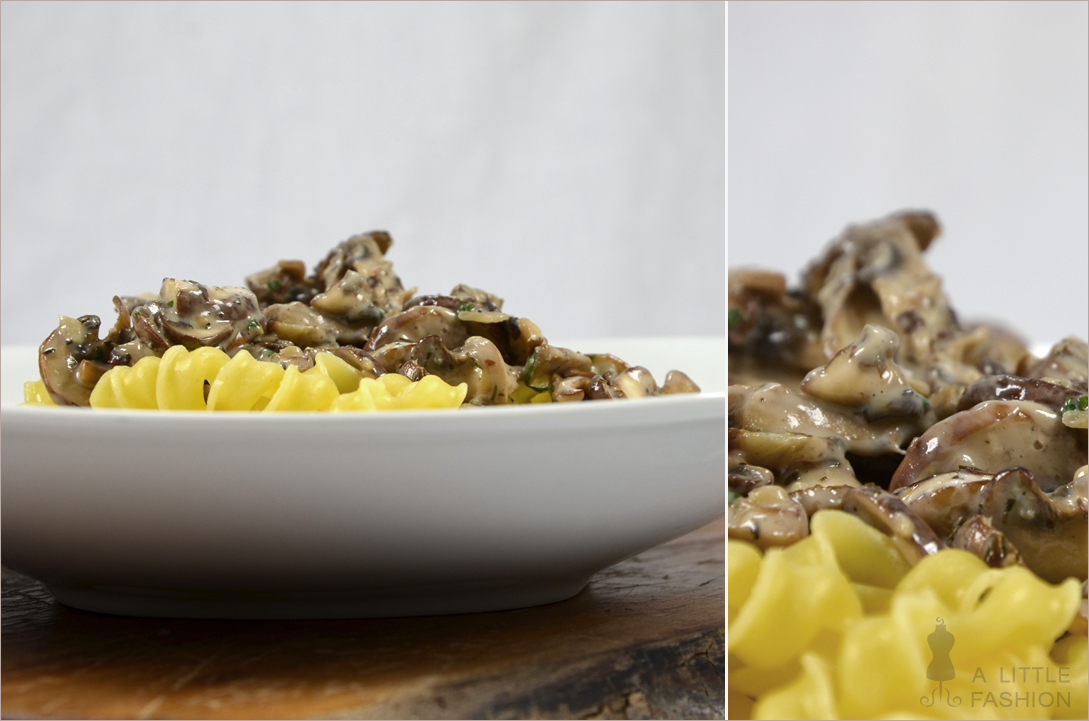 Low-Fat-Nudelsoße mit Champignons