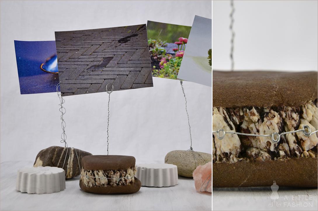 DIY-Fotohalter aus Steinen