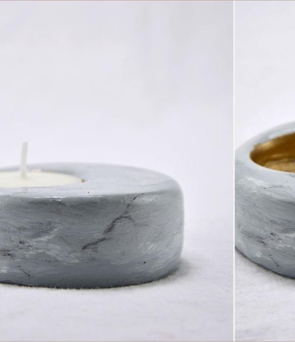 Easy-peasy-Kerzenhalter aus Gips