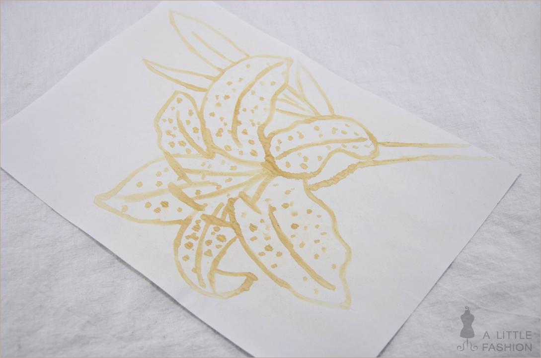 Malen mit Milch  - Kunst auf natürliche Art