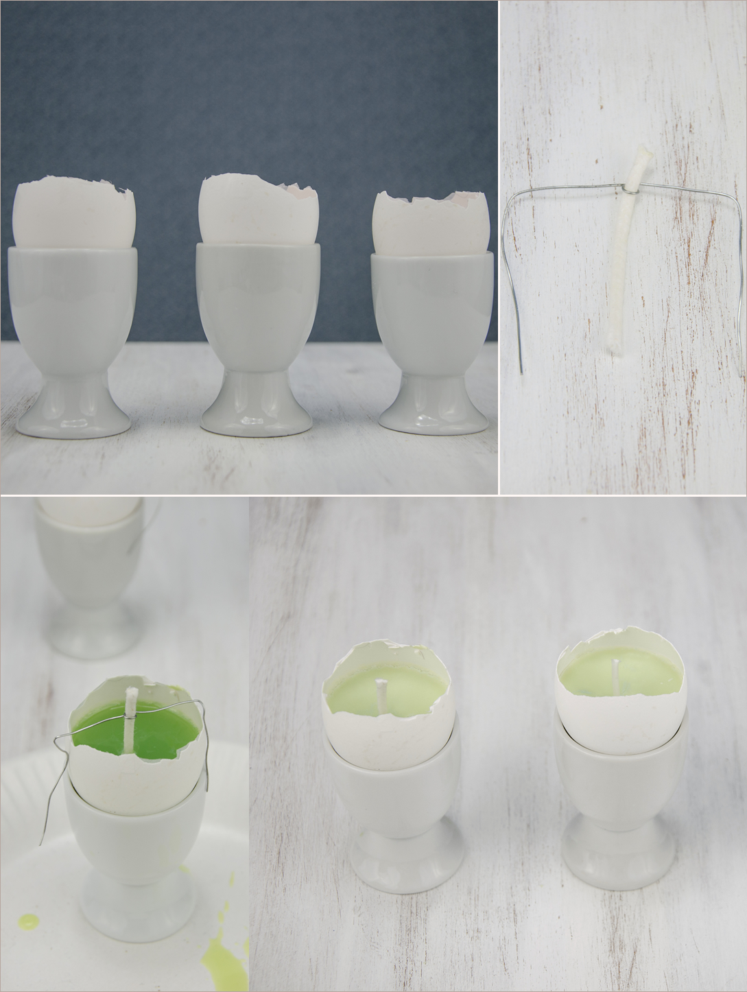 DIY-Kerzen aus Eierschalen