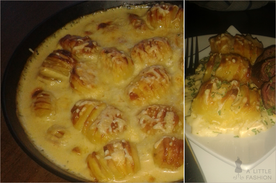 Gefächerte Ofenkartoffeln