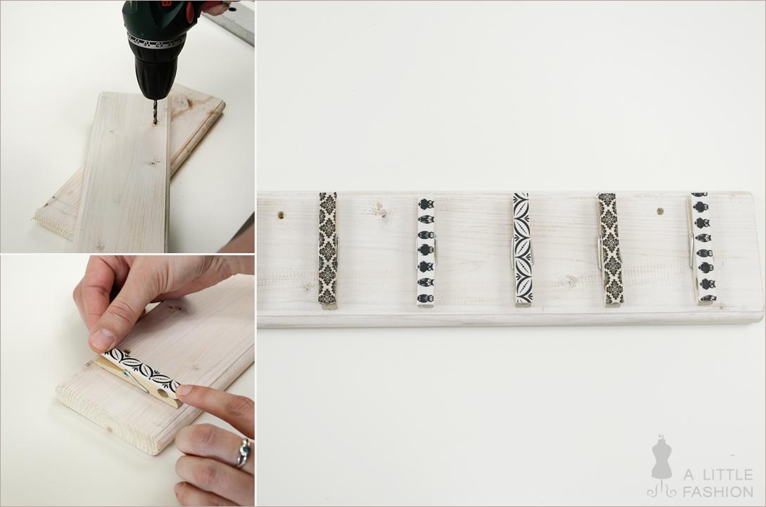 DIY-Kettenhalter mit Wäscheklammern