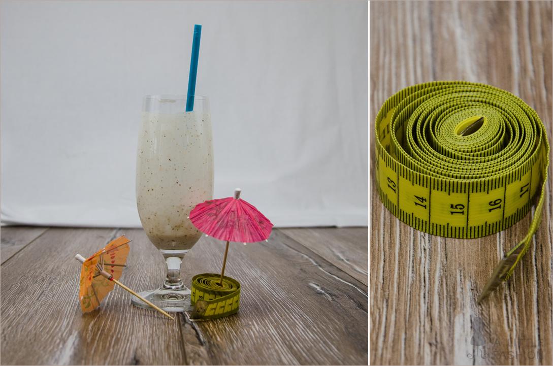 Proteinshake mit Banane und Kokos