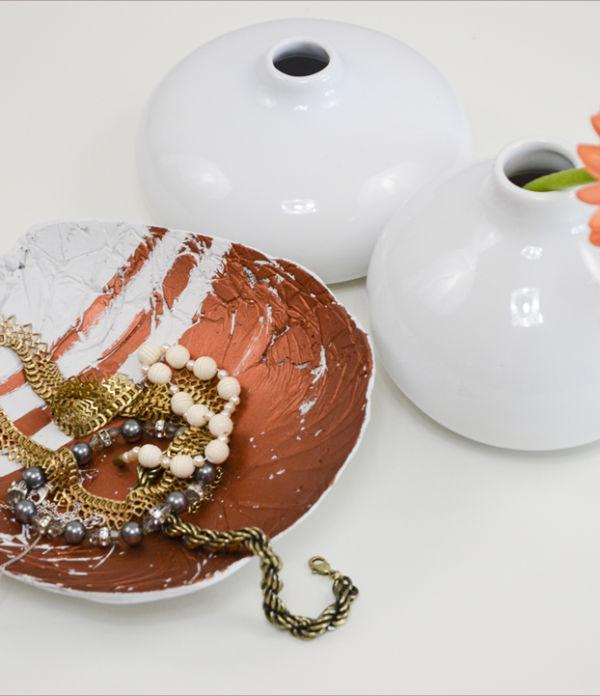 Ganz schön schmucke… DIY-Schmuckschale aus Gips
