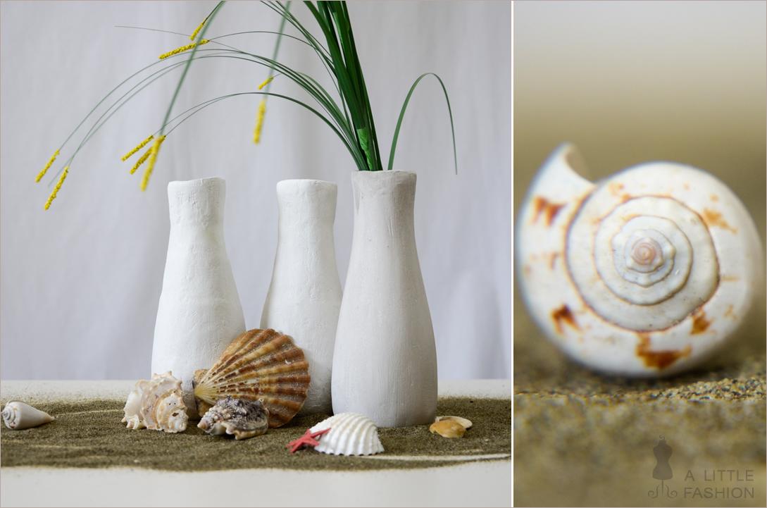 DIY-Gipsvasen aus Cremefine-Flaschen