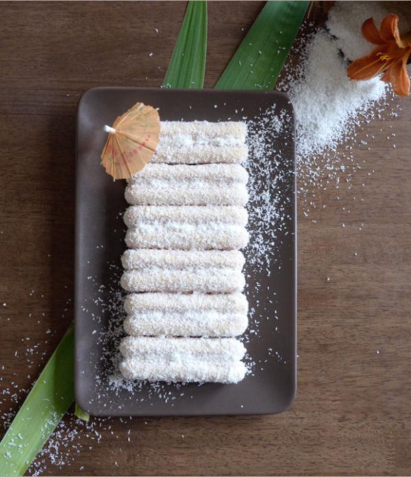 Rezept: Karibische Kokos-Mascarpone-Sticks