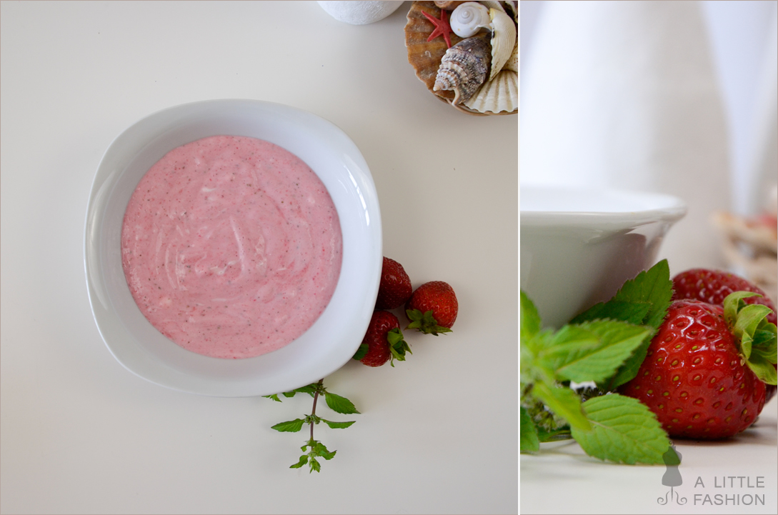 Fruchtige Verführung - peelende Erdbeer-Quark-Maske