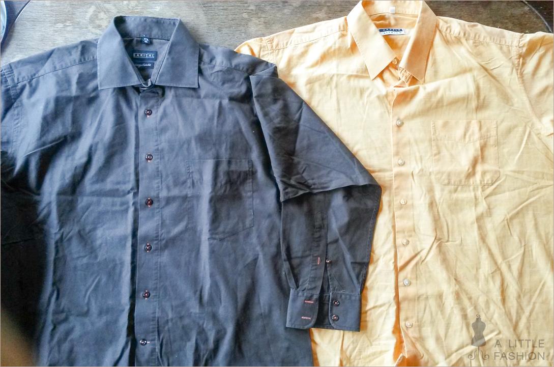 Wie aus zwei Männerhemden ein Sommerkleid wird...