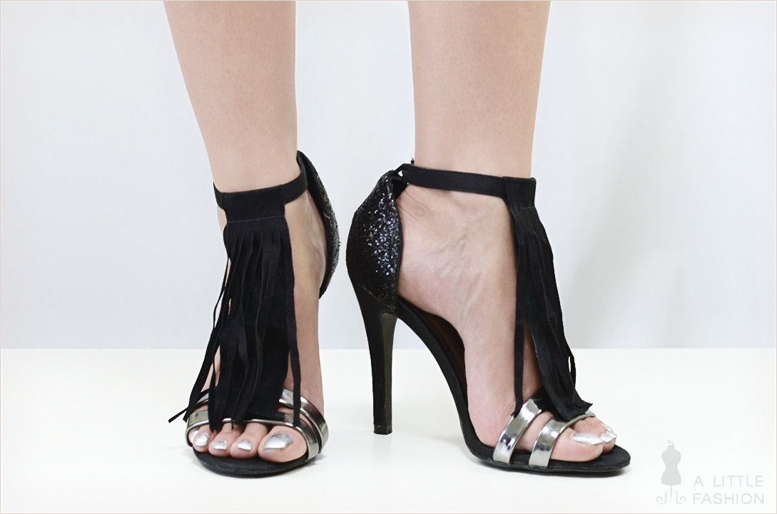 DIY: abnehmbare Fransen-Stege für Sandaletten