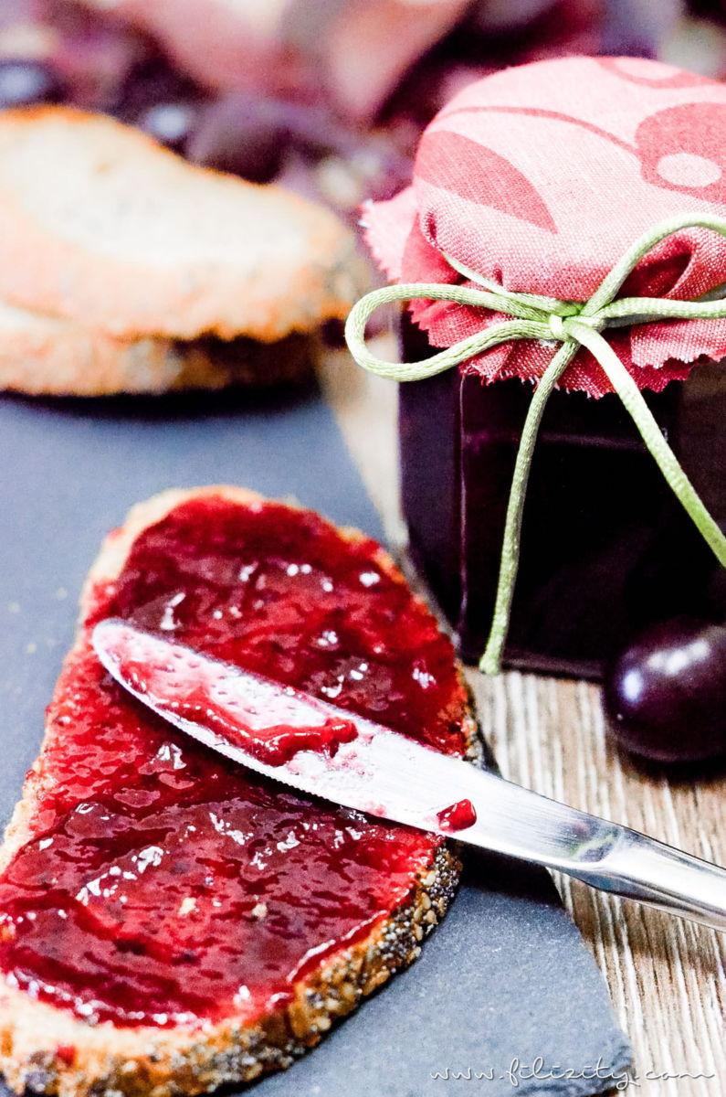 Ein leckeres Frühstücks-Rezept: Kirschpflaumen-Marmelade mit Vanille selber machen   Filizity.com   Food-Blog aus dem Rheinland #sommer #herbst #frühstück #marmelade
