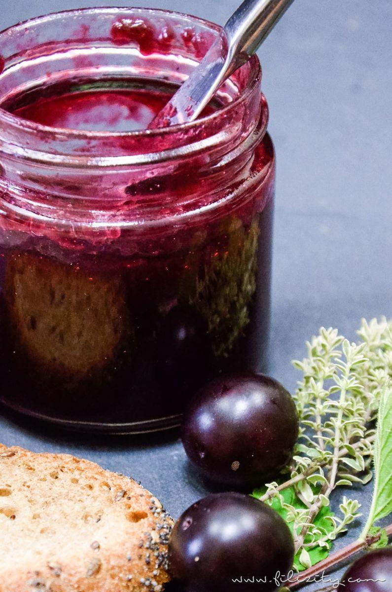 Ein leckeres Frühstücks-Rezept: Kirschpflaumen-Marmelade mit Vanille selber machen | Filizity.com | Food-Blog aus dem Rheinland #sommer #herbst #frühstück #marmelade