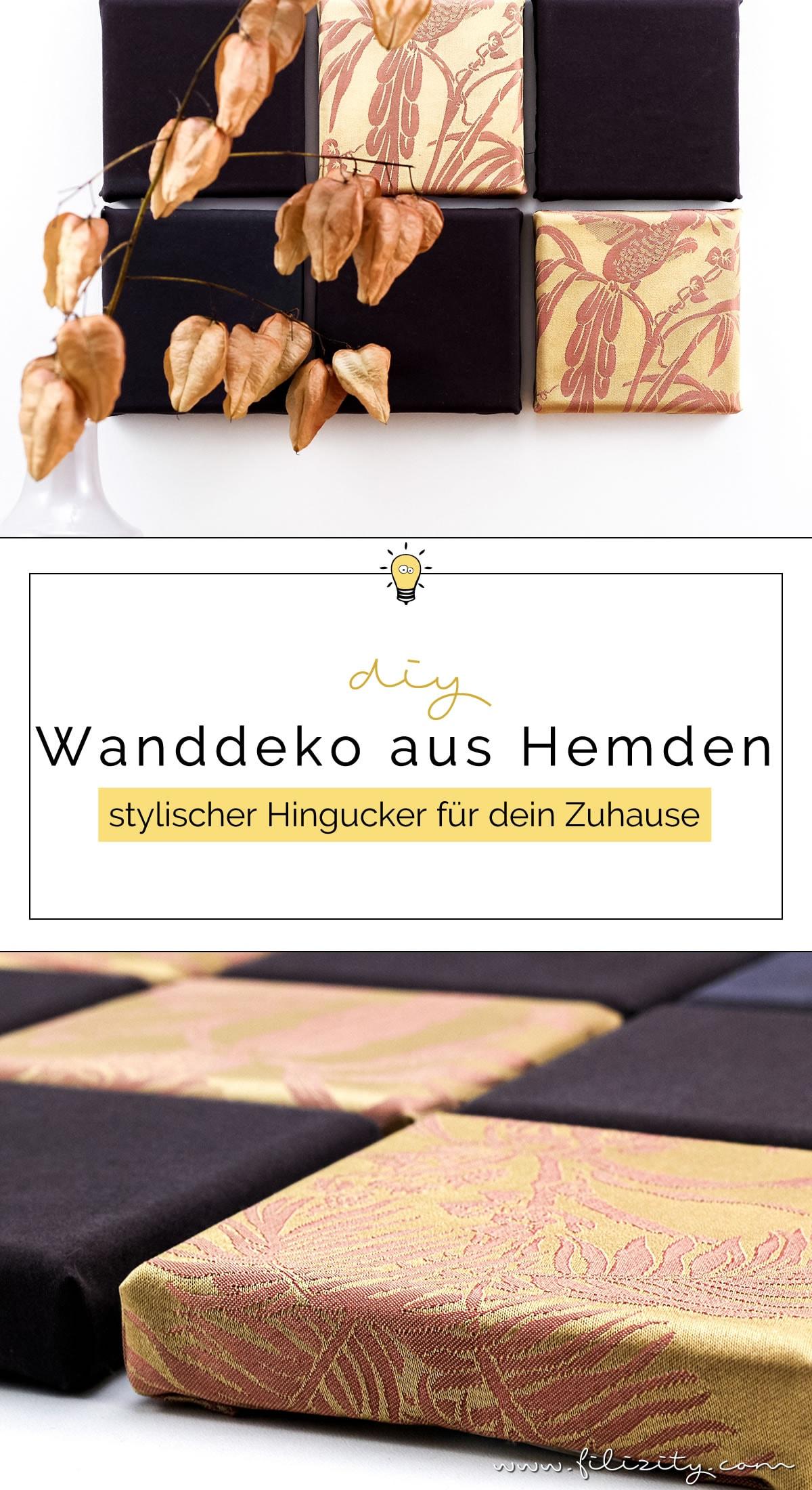 Upcycling: Wanddeko aus altem Männerhemd selber machen | Filizity.com | DIY-Blog aus Koblenz