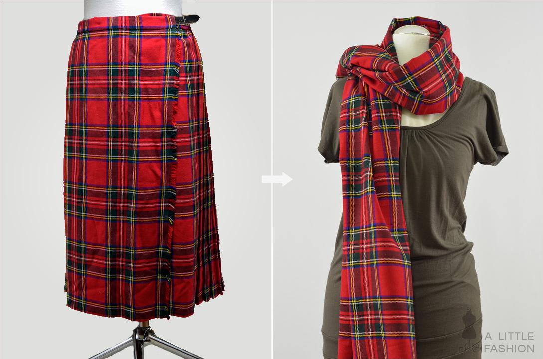 XXL-Schal aus Schottenrock