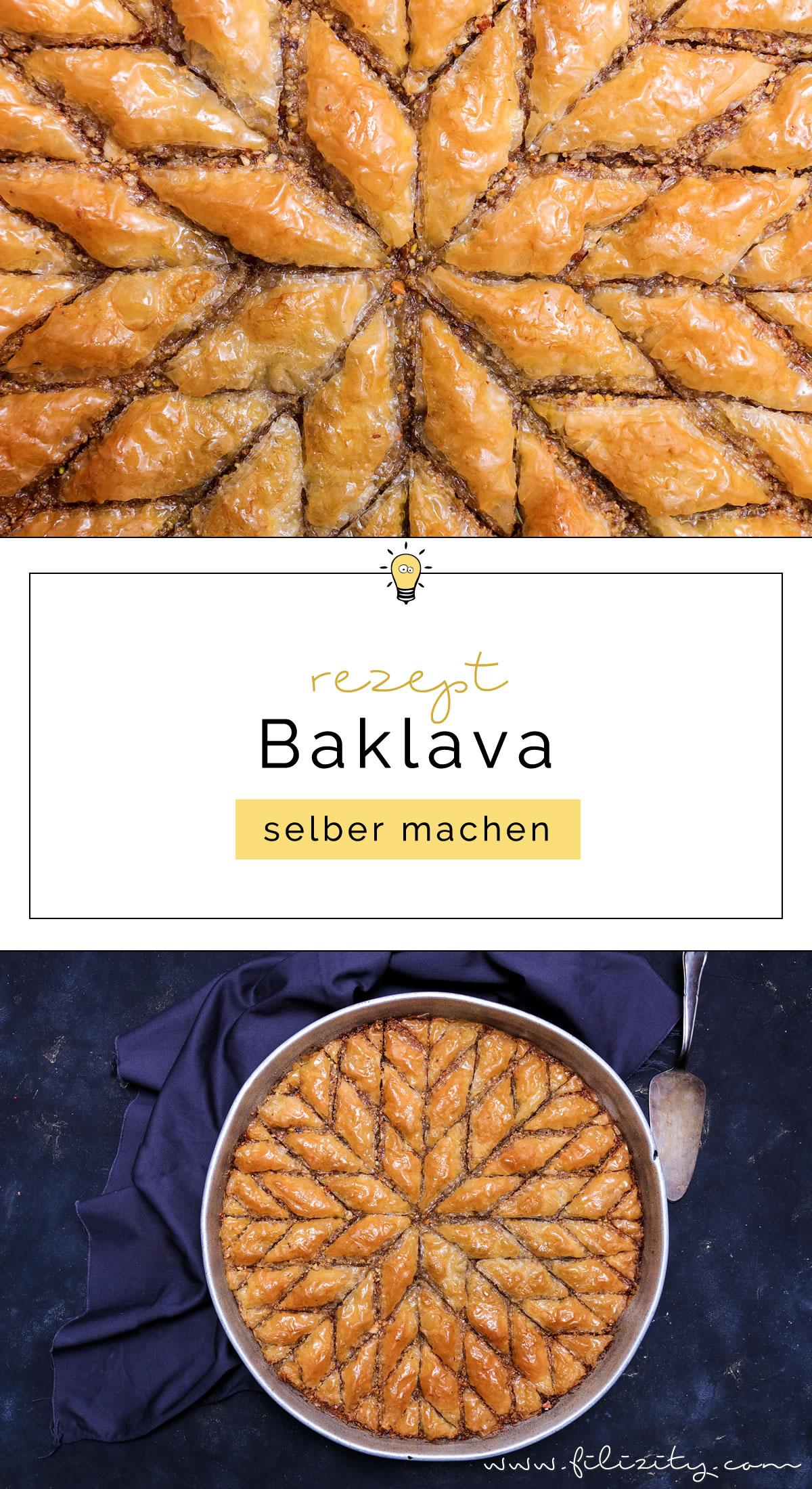 Orientalische Süßspeise: Baklava selber machen | Blätterteig-Gebäck in Zuckersirup | Filizity.com | Food-Blog aus dem Rheinland #baklava #dessert #orientalisch