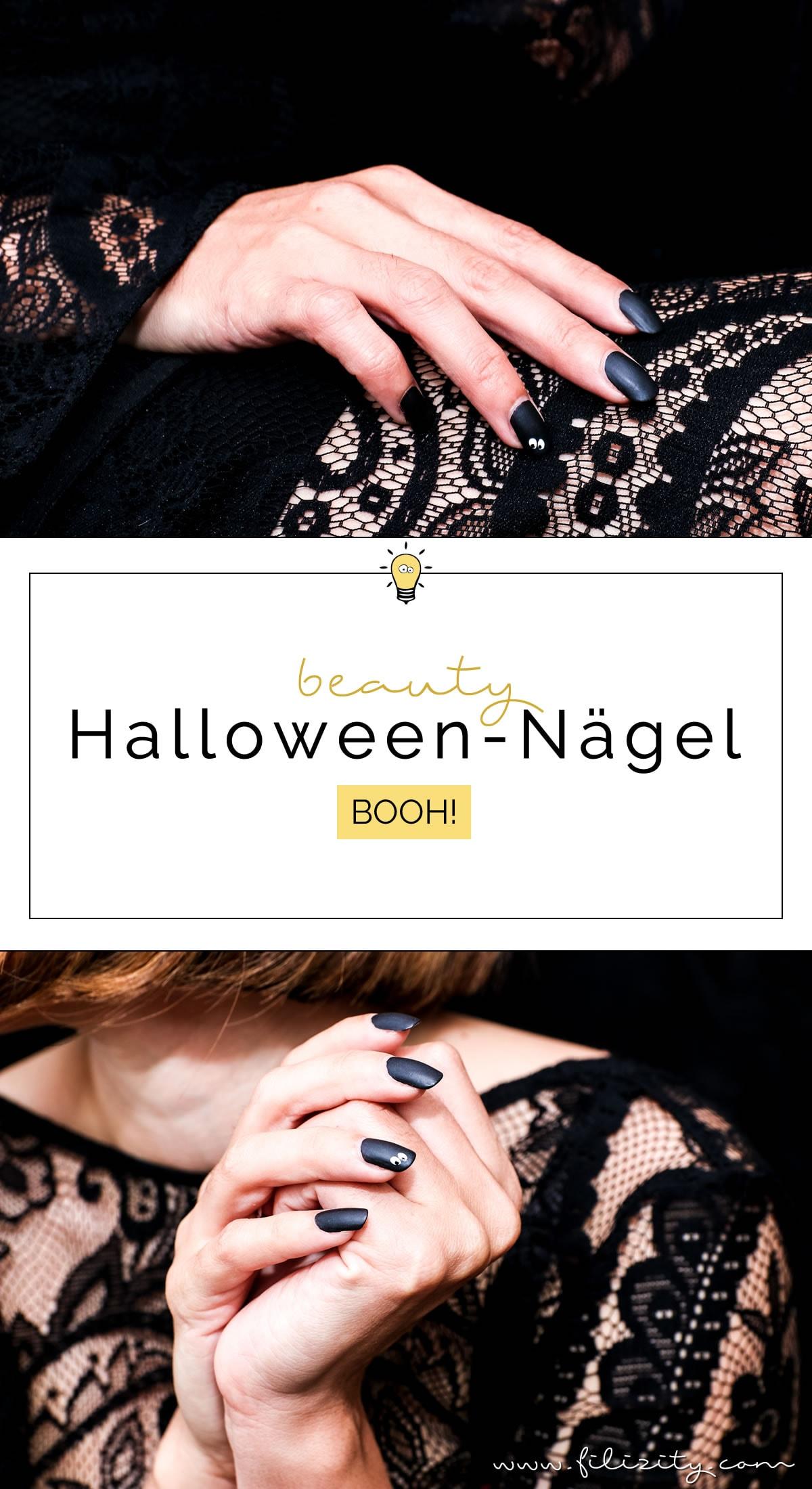 """Elegantes Halloween Nageldesign """"Augen"""" - Einfache Maniküre Idee #halloween #nagellack"""