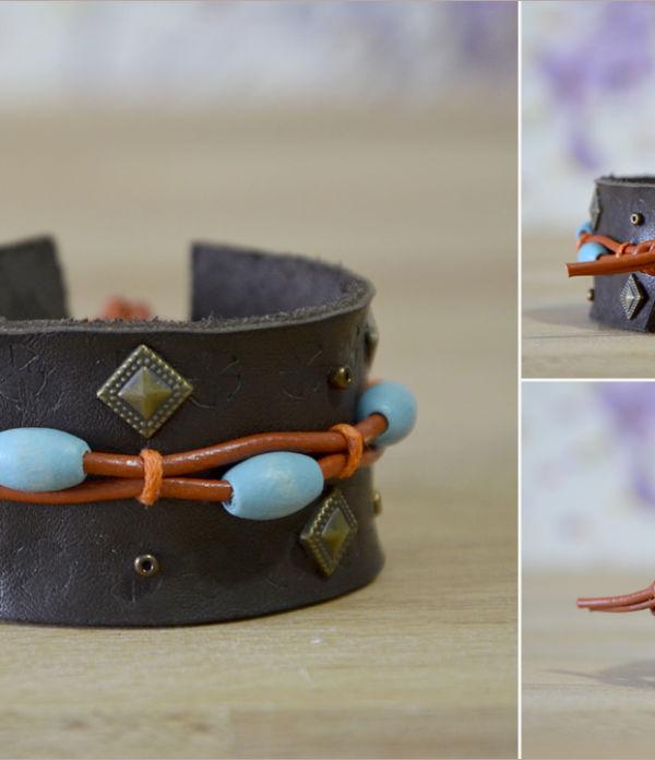 Boho-Armband aus Leder