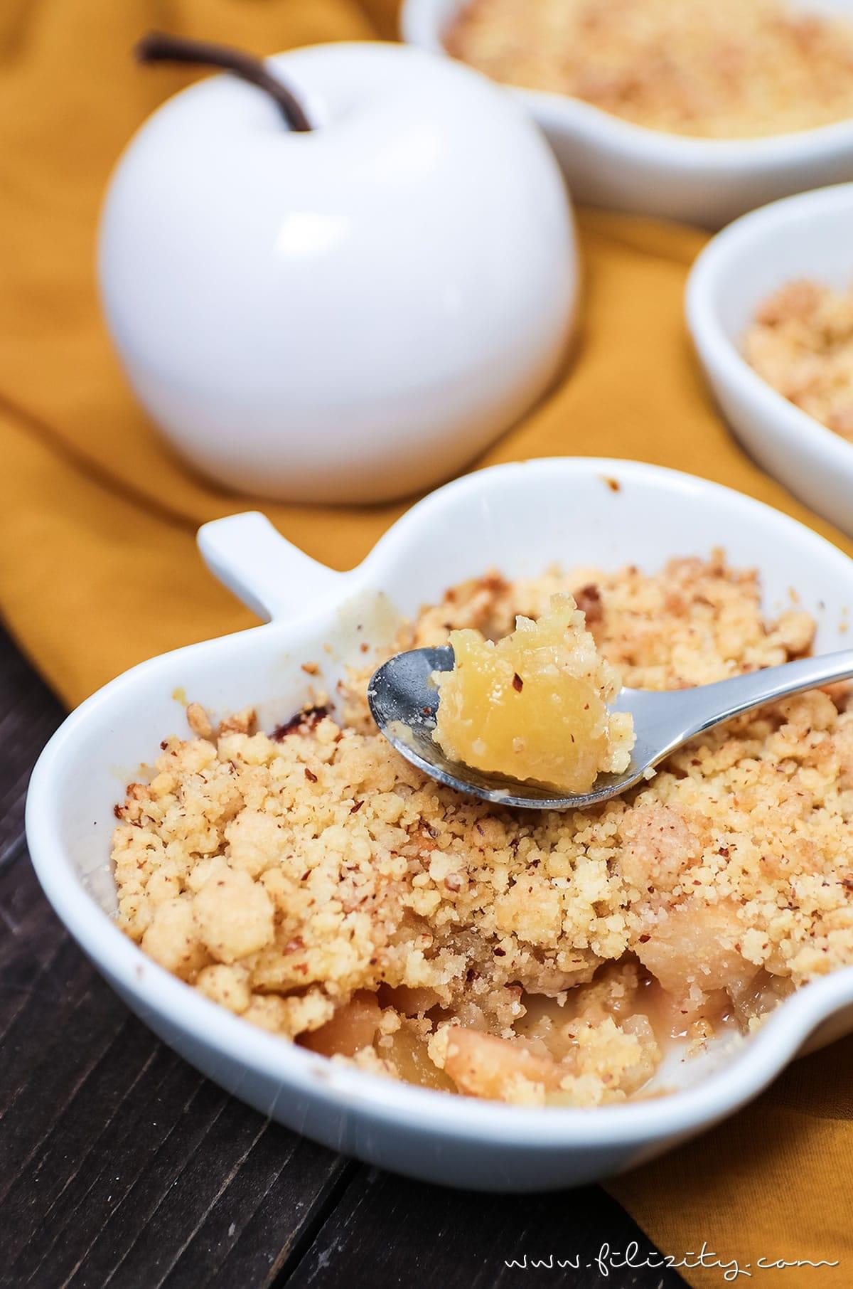 Rezept: Apfel-Quitten-Crumble - Das perfekte Herbst-Dessert | Filizity.com | Food-Blog aus Koblenz