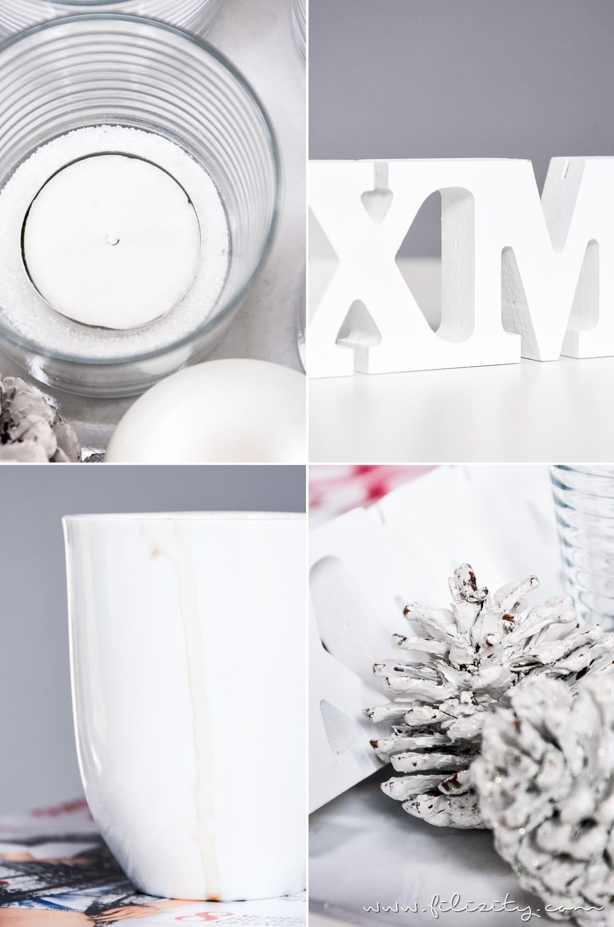 Last Minute Adventsteller – In 5 Minuten zum Adventskranz - Weihnachtsdeko | Filizity.com | DIY-Blog aus dem Rheinland #weihnachten #deko #adventskranz