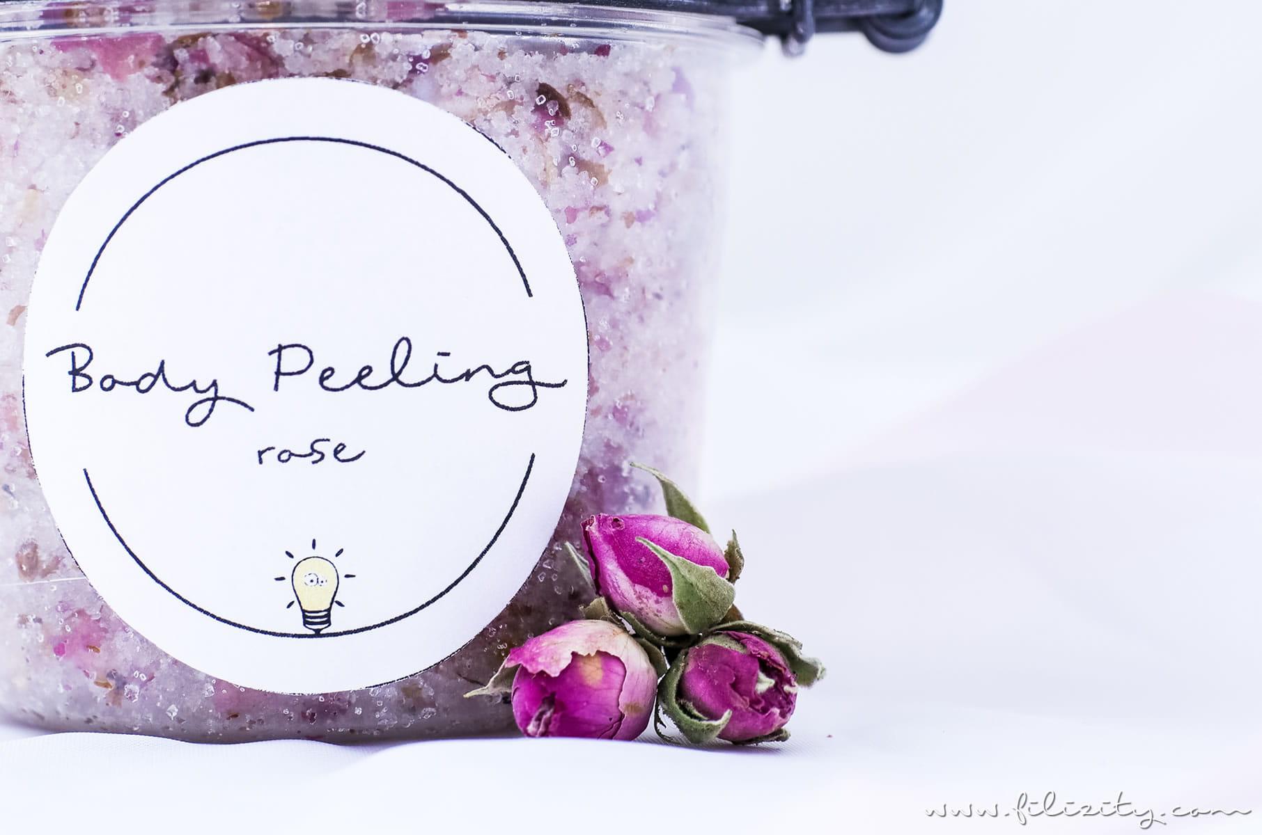 DIY Body Scrub: Rosen-Peeling selber machen - DIY Hautpflege & Geschenkidee für Valentinstag | Naturkosmetik selber machen | Filizity.com | Beauty- & DIY-Blog aus dem Rheinland #valentinstag #geschenkidee #muttertag