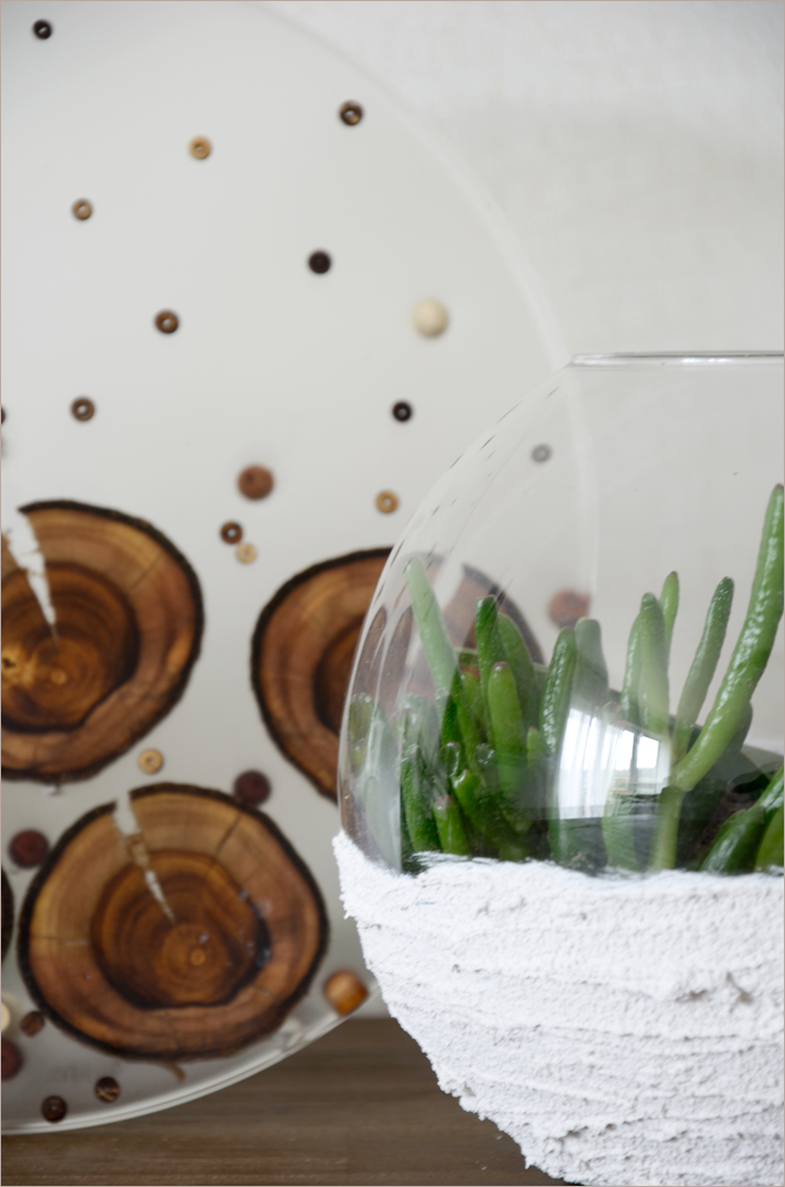 DIY-Naturdeko: Harzbild mit Holzeinschluss | A Little Fashion