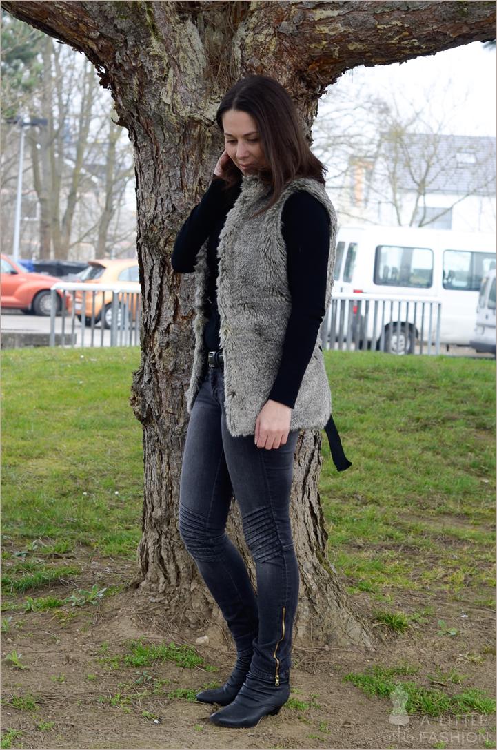 Kuschelweiche (Fake)Fellweste gegen kalte Frühlingstage