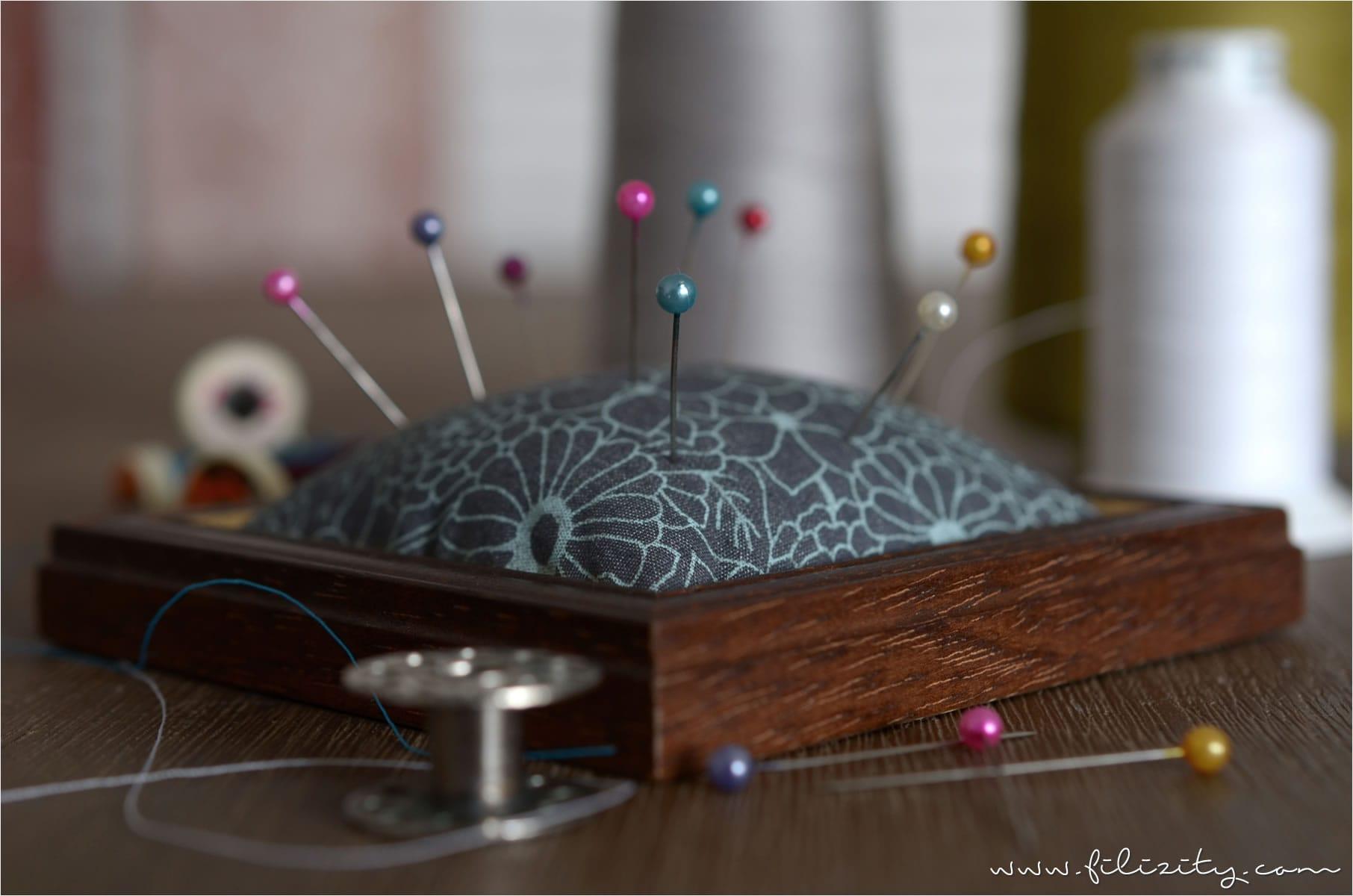 Nadelkissen aus Bilderrahmen selber machen