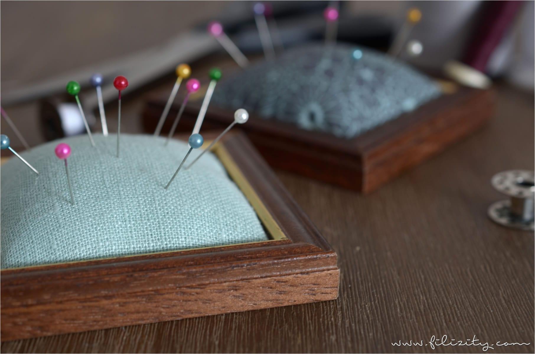 DIY Nadelkissen aus Bilderrahmen