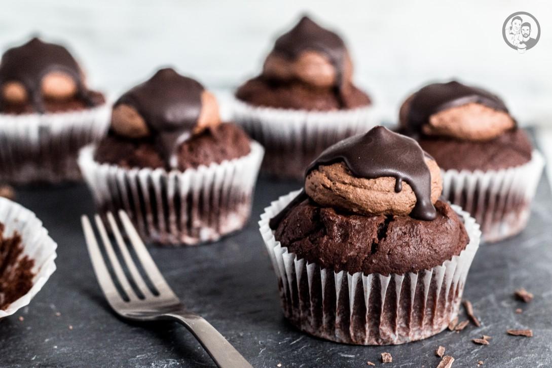 Schoko-Nougat Cupcakes