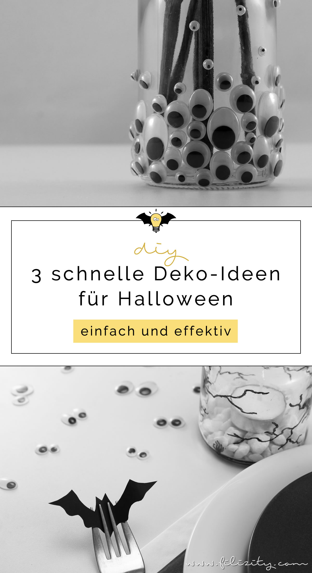 3 schnelle halloween deko ideen zum selbermachen diy blog aus dem rheinland. Black Bedroom Furniture Sets. Home Design Ideas