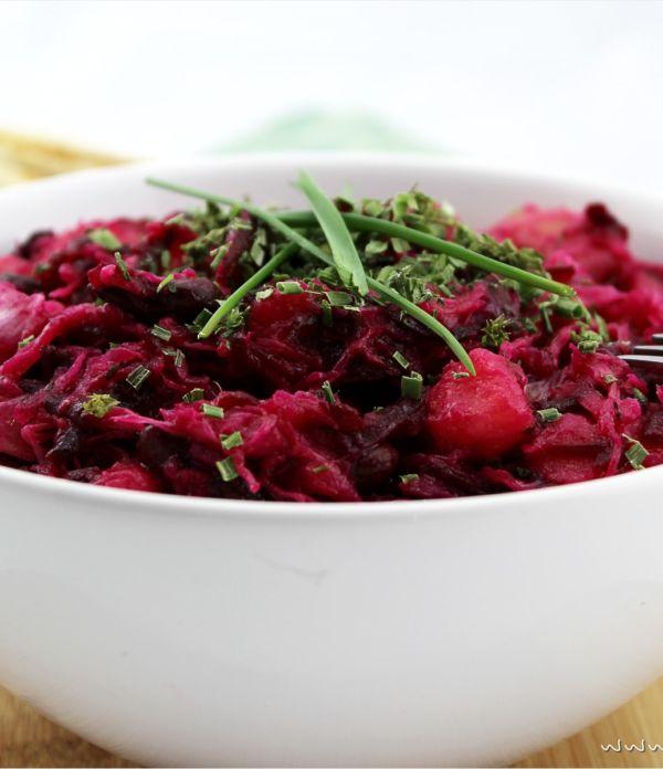 Vinaigrette – knallroter Kartoffelsalat