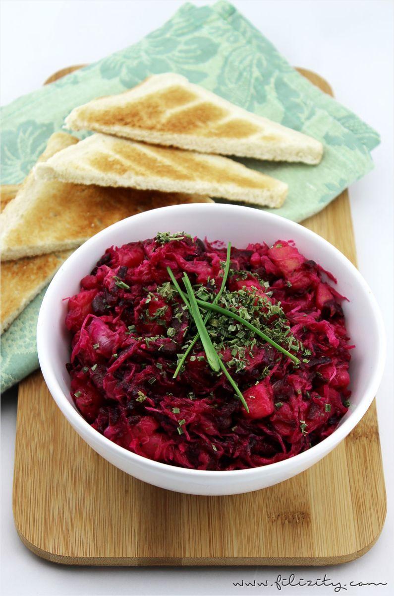 rezept food vinaigrette kartoffel rote beete salat bohnen1. Black Bedroom Furniture Sets. Home Design Ideas
